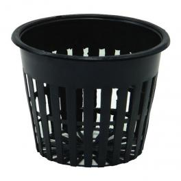 round black net pot 77mm